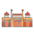 Red Fort Lal Quila vector image