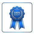 Ribbon award icon blue 3 vector image vector image