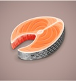Salmon steak of red fish for sushi vector image vector image