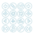 set arrows icons isolated on white vector image vector image