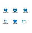 set dental logo template design vector image vector image