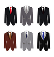set of 6 handsome business suit vector image vector image