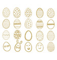 set of easter eggs egg icons collection in doodle vector image vector image
