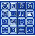 set of icons mobile vector image