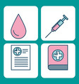 set of medical medicine science theme icons vector image vector image