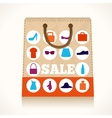 Shopping clothing bag design vector image