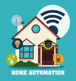 Smart house design vector image vector image