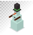 Snowman 3d isometric view icon vector image