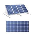 solar panels realistic 3d set vector image