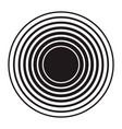 sound wave icon design element for logo label vector image