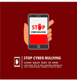 Stop cyber bullying campaign vector image