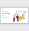 strategic partnership businessman characters vector image