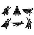 super businessman stick figure pictogram vector image