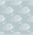 swan pair seamless pattern hand drawn vector image vector image