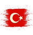 symbol poster banner turkey map of turkey with vector image vector image