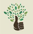 Thumb tree vector image vector image