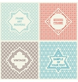 Vintage Set Templates Logo Labels and Badges vector image