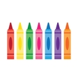 Wax colorful crayons vector image vector image