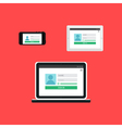 Web Template of Adaptive Login Form vector image vector image