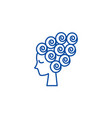 woman face female beautyhair curler line icon vector image