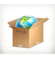 World in box vector image vector image