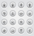 yoga fitness and meditation icon set flat design vector image vector image