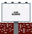 Blank Advertising Billboard In The City vector image