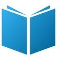 Open Book Gradient Icon vector image
