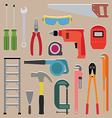 set of tools instrument icons vector image