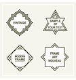 Set of retro vintage badges frames labels vector image