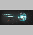 3d futuristic technology website template vector image