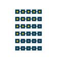 5 star rating symbol design vector image
