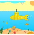 a submarine at sea vector image vector image
