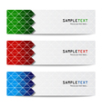 Abstract banners set eps10 vector image