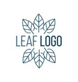 abstract leaves in circle logo icon design vector image