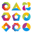 abstract logo shape design vector image vector image