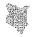 abstract schematic map of kenya from the black vector image vector image