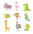 African Animals Icon Set vector image vector image