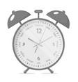 alarm clock realistic style vector image vector image