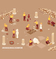 archeology isometric background vector image vector image