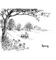 Artistic sketch of landscape vector image vector image