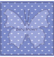 Baby-shower-butterfly-hearts-blue vector image vector image
