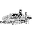 baby showers for adoptive parents text word cloud vector image vector image