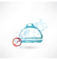 Ban food grunge icon vector image