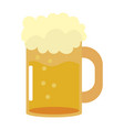beer cup isolated vector image vector image