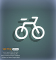 Bicycle icon symbol on the blue-green abstract vector image