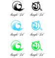 birds logo set vector image vector image