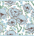 blue flowers pattern a romantic old-fashioned vector image vector image
