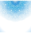 Blue winter round lace background vector image