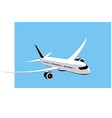 boeing 787 dreamliner commercial jet at sky vector image vector image